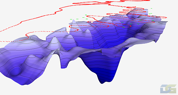 Samples of 3D batymetric model. Africa.